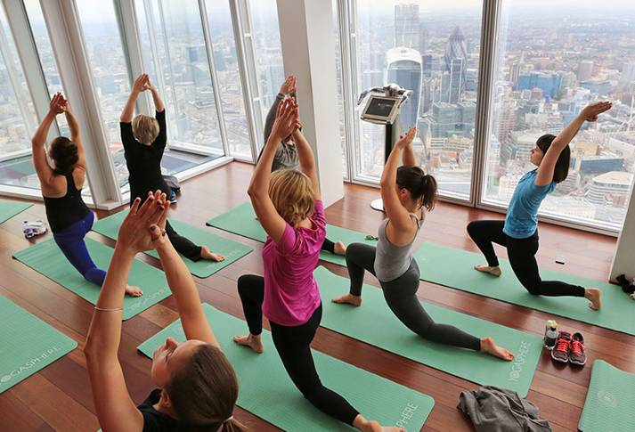 yoga in the shard