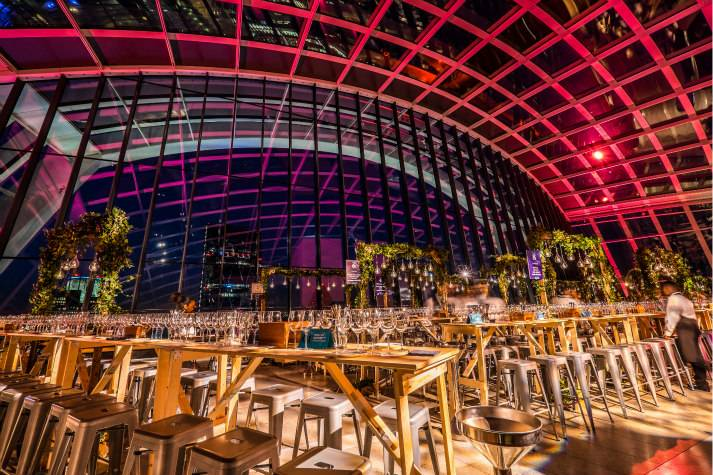 sky-garden-at-night-bespoke-events-london-incognito-dinner